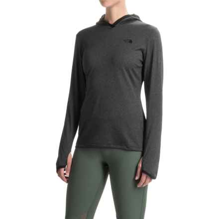 The North Face Reactor Hoodie (For Women) in Tnf Dark Grey Heather/Tnf Black - Closeouts