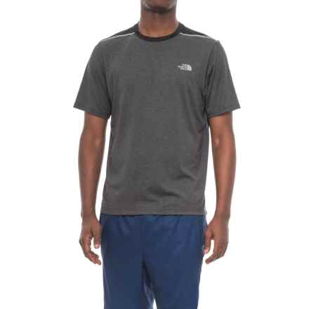 The North Face Reactor Shirt - Short Sleeve (For Men) in Tnf Dark Grey Heather/Tnf Black - Closeouts