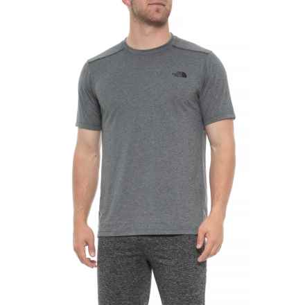 The North Face Reactor Shirt - Short Sleeve (For Men) in Tnf Medium Grey Heather - Closeouts