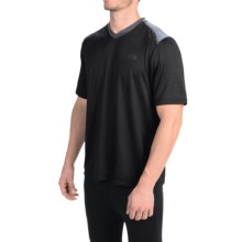The North Face Reactor T-Shirt - Short Sleeve (For Men) in Tnf Black/Asphalt Grey - Closeouts