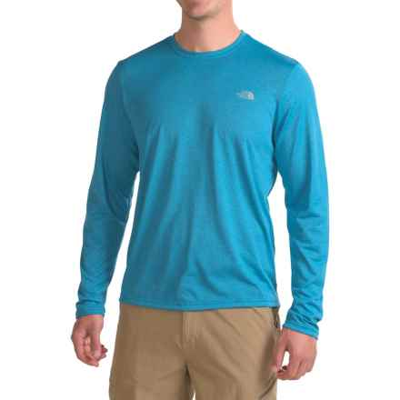 The North Face Reaxion Amp Shirt - Long Sleeve (For Men) in Blue Aster Dark Heather (Std)/Mid Grey - Closeouts