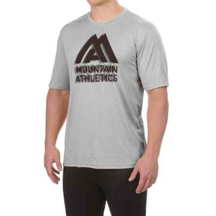 The North Face Reaxion Amp T-Shirt - Crew Neck, Short Sleeve (For Men) in Tnf Light Grey Heather - Closeouts