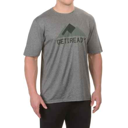 The North Face Reaxion Amp T-Shirt - Crew Neck, Short Sleeve (For Men) in Tnf Medium Grey Heather - Closeouts