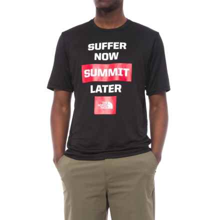 The North Face Reaxion Ma-G T-Shirt - Short Sleeve (For Men) in Tnf Black - Closeouts