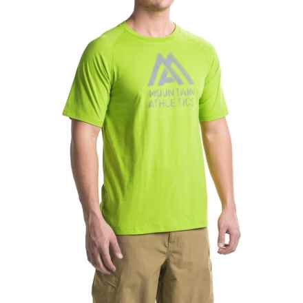 The North Face Recking G Crew T-Shirt - Short Sleeve (For Men) in Chive Green - Closeouts