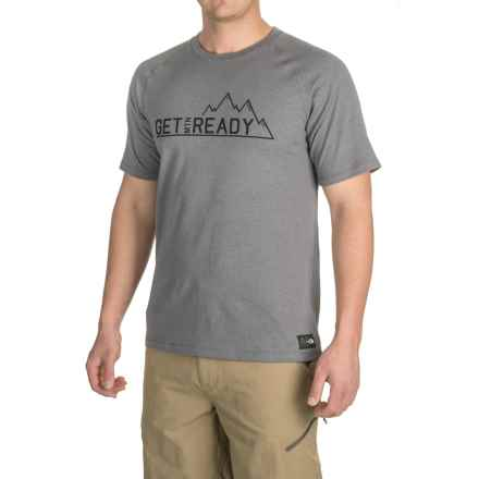 The North Face Recking G Crew T-Shirt - Short Sleeve (For Men) in Tnf Medium Grey Heather - Closeouts