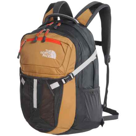 The North Face Recon 31L Backpack in Dijon Brown/Poinciana Orange - Closeouts