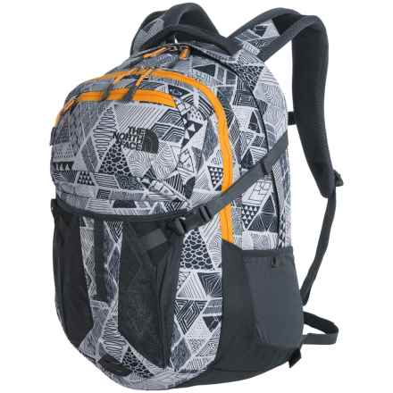 The North Face Recon 31L Backpack in Vintage White Trickonometry Print/Radiant Yellow - Closeouts