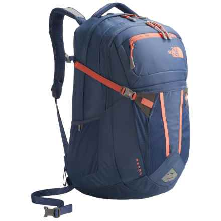The North Face Recon Backpack (For Women) in Coastal Fjord Blue/Feather Orange - Closeouts