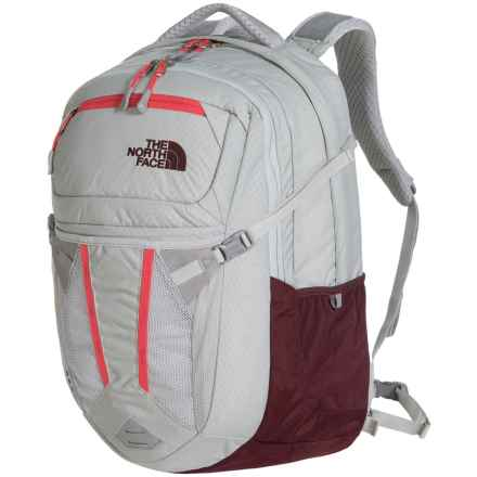 The North Face Recon Backpack (For Women) in Lunar Ice Grey/Melon Red - Closeouts