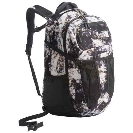 The North Face Recon Backpack (For Women) in Tnf Black Diamond Life Print/Asphalt Grey - Closeouts