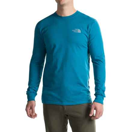 The North Face Red Box T-Shirt - Long Sleeve (For Men) in Banff Blue/Mid Grey - Closeouts