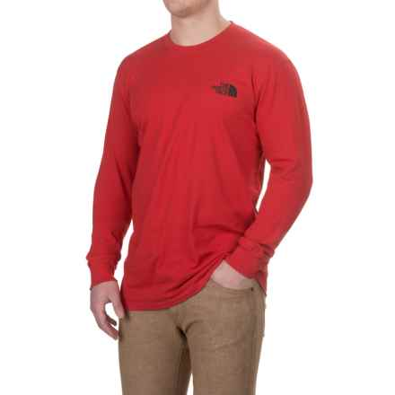 The North Face Red Box T-Shirt - Long Sleeve (For Men) in Tnf Red/Asphalt Grey - Closeouts