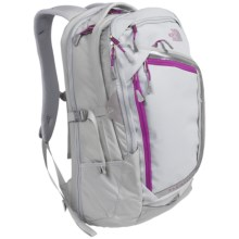 The North Face Resistor Charged Backpack in High Rise Grey/Magic Magenta - Closeouts