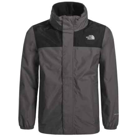 The North Face Resolve Jacket - Waterproof (For Little and Big Boys) in Graphite Grey - Closeouts