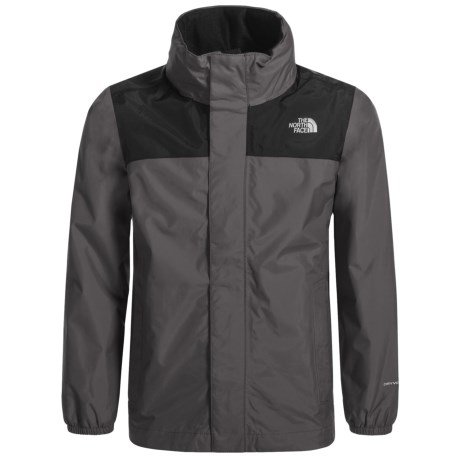 The North Face Resolve Jacket - Waterproof (For Little and Big Boys) in Graphite Grey