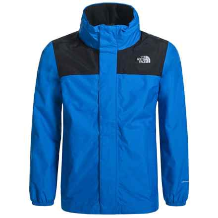 The North Face Resolve Jacket - Waterproof (For Little and Big Boys) in Jake Blue - Closeouts
