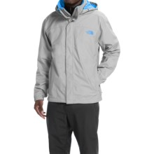 The North Face Resolve Jacket - Waterproof (For Men) in High Rise Grey/Bomber Blue - Closeouts