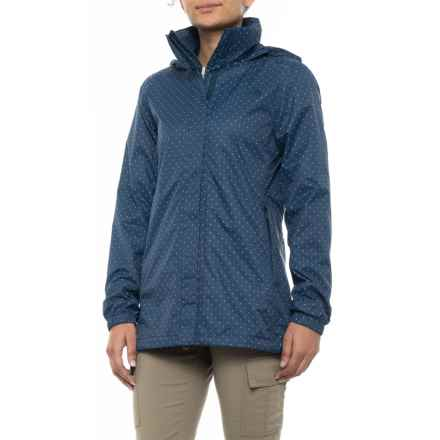 The North Face Resolve Parka - Waterproof (For Women) in Blue Wing Teal Triangle Dot Print - Closeouts