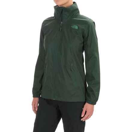 The North Face Resolve Plus Rain Jacket - Waterproof (For Women) in Darkest Spruce - Closeouts