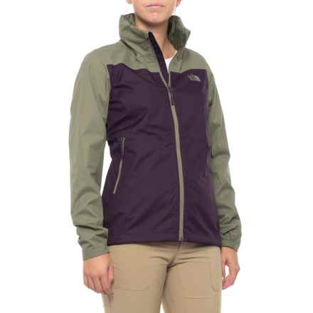 The North Face Resolve Plus Rain Jacket - Waterproof (For Women) in Galaxy Purple/Deep Lichen Green - Closeouts