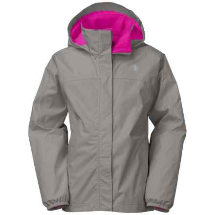 The North Face Resolve Reflective Jacket - Waterproof (For Little and Big Girls) in Metallic Silver - Closeouts