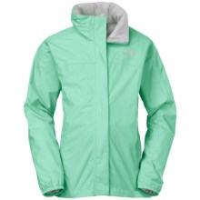 The North Face Resolve Reflective Jacket - Waterproof (For Little and Big Girls) in Surf Green - Closeouts