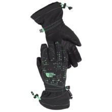 The North Face Revelstoke Etip Ski Gloves - Waterproof, Insulated, Touch-Screen Compatible (For Little and Big Kids) in Asphalt Grey/Surf Green - Closeouts