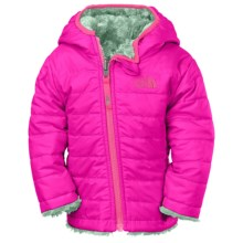 The North Face Reversible Mossbud Swirl Jacket - Insulated, Fleece Lined (For Infants) in Luminous Pink - Closeouts