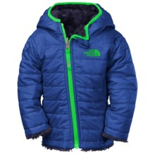 The North Face Reversible Mossbud Swirl Jacket - Insulated, Fleece Lined (For Infants) in Monster Blue - Closeouts