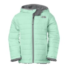 The North Face Reversible Mossbud Swirl Jacket - Insulated (For Toddlers) in Surf Green - Closeouts