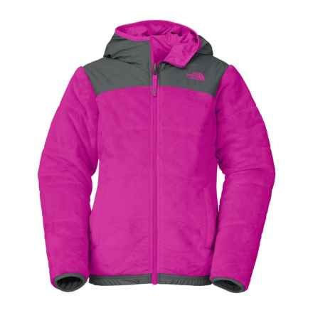 The North Face Reversible Perseus Jacket - Insulated, Fleece Lined (For Little and Big Girls) in Luminous Pink - Closeouts