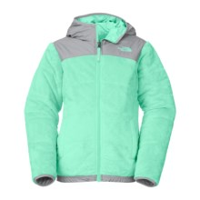 The North Face Reversible Perseus Jacket - Insulated, Fleece Lined (For Little and Big Girls) in Surf Green - Closeouts