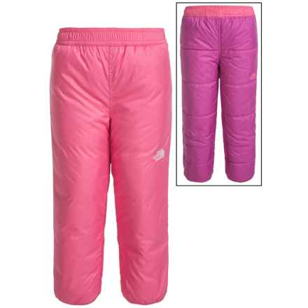 The North Face Reversible Snow Pants - Insulated (For Toddlers) in Cha Cha Pink - Closeouts