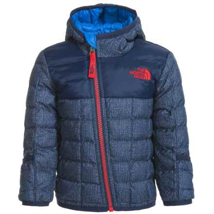 The North Face Reversible ThermoBall® Hooded Jacket - Insulated (For Infants) in Cosmic Blue Denim Print - Closeouts
