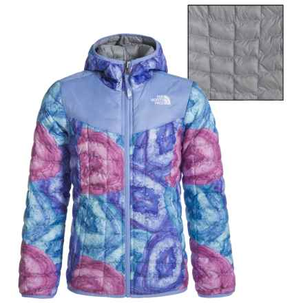 The North Face Reversible ThermoBall® Hoodie (For Little and Big Girls) in Grapemist Blue Crystal Print - Closeouts