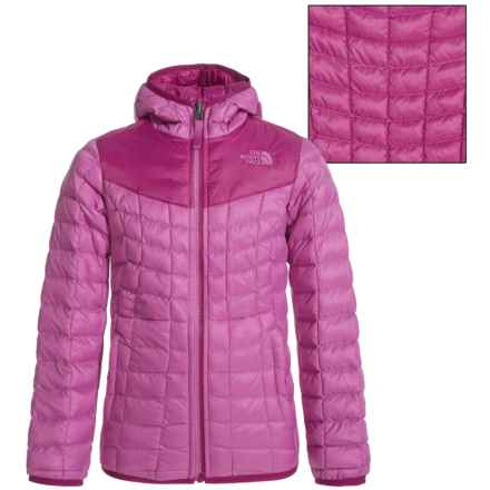 The North Face Reversible ThermoBall® Hoodie (For Little and Big Girls) in Wisteria Purple - Closeouts