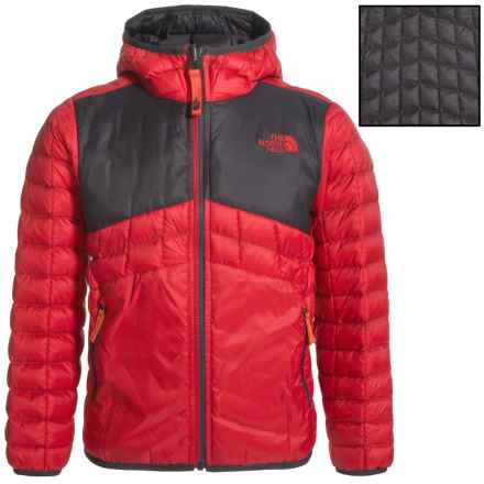 The North Face Reversible ThermoBall® Hoodie - Insulated (For Little and Big Boys) in Tnf Red - Closeouts