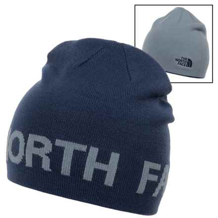 The North Face Reversible TNF Banner Beanie (For Men) in Shady Blue/Worn Blue - Closeouts