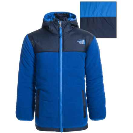 The North Face Reversible True or False Jacket - Insulated (For Little and Big Boys) in Honor Blue - Closeouts