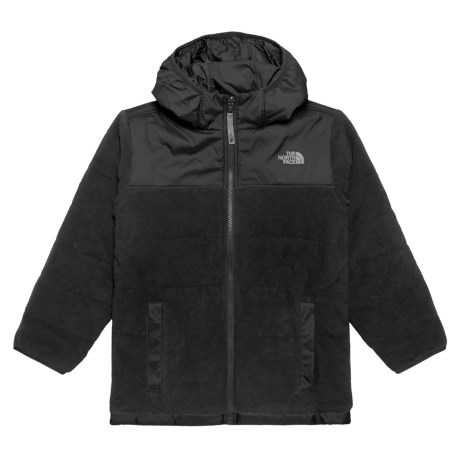 The North Face Reversible True or False Jacket - Insulated (For Little and Big Boys) in Tnf Black Print