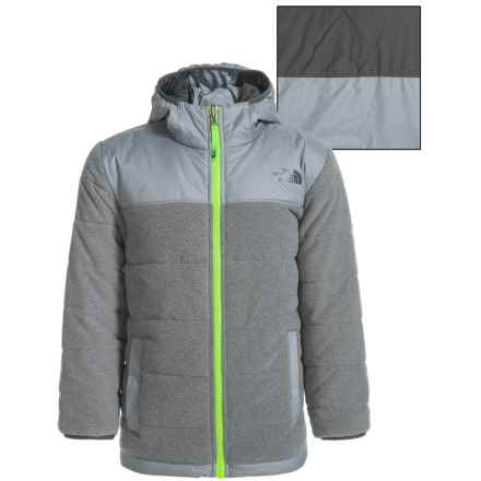 The North Face Reversible True or False Jacket - Insulated (For Little and Big Boys) in Tnf Medium Grey Heather - Closeouts