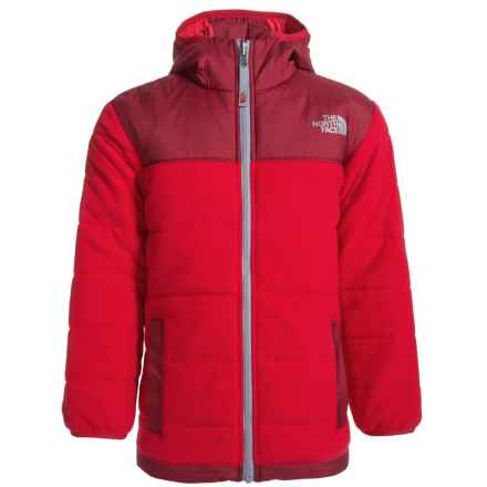 The North Face Reversible True or False Jacket - Insulated (For Little and Big Boys) in Tnf Red - Closeouts