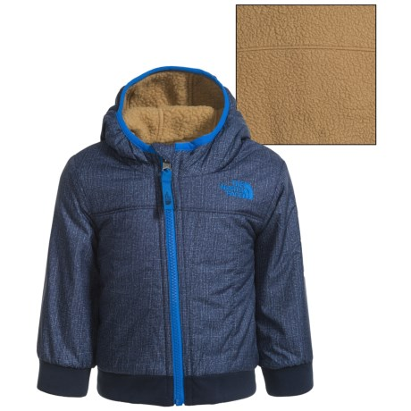 The North Face Reversible Yukon Hoodie - Insulated (For Infants) in Cosmic Blue Denim Print