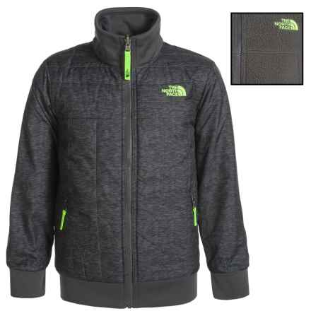 The North Face Reversible Yukon Jacket - Insulated (For Little and Big Boys) in Graphite Grey Pixelated Heather - Closeouts