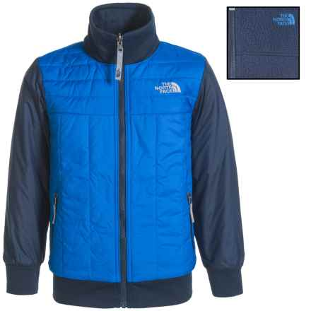 The North Face Reversible Yukon Jacket - Insulated (For Little and Big Boys) in Jake Blue - Closeouts