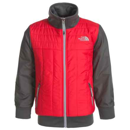The North Face Reversible Yukon Jacket - Insulated (For Little and Big Boys) in Tnf Red - Closeouts