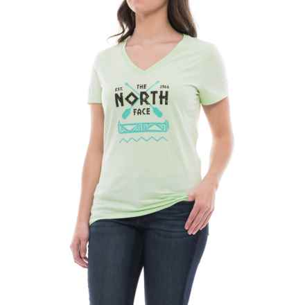 The North Face River's Bend Shirt - Short Sleeve (For Women) in Ambrosia Green - Closeouts