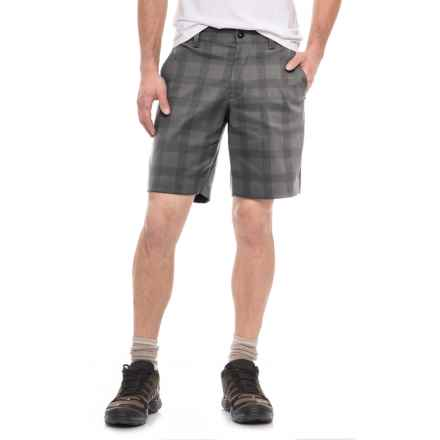 The North Face Rockaway Shorts (For Men) in Zinc Grey Plaid - Closeouts