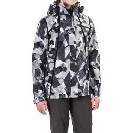 The North Face Roxborough Jacket - Waterproof (For Women) in Tnf Black Swashed Print - Closeouts